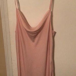 Topshop Dresses - NWT Pink Topshop Cowlneck Midi Slipdress Size 8